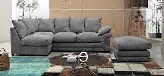 grey fabric corner sofa fernando corner lhf with footstool fernando fabric grey fabric