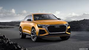 audi orange color 2017 audi q8 sport concept color krypton orange front three
