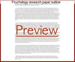 how to make research paper outline psychology research paper outline homework academic service