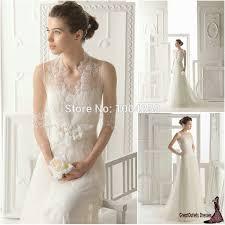 plain wedding dress with lace jacket simple ivory lace beach