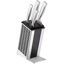 Wmf Kitchen Knives Wmf Grand Gourmet Knife Block With 5 Knives Silver Amazon Co Uk