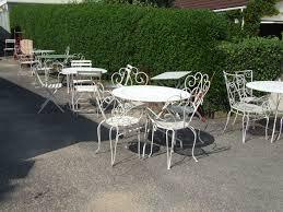 Black Wrought Iron Patio Furniture Sets - square garden table by meridiani design livia pansera loversiq