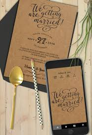 very classy invitation card suite with webapp in the same creative