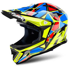 youth xs motocross helmet 2018 airoh archer junior youth motocross helmet chief blue