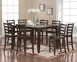 java extending dark wood dining table 4 6 chairs set brown ebay in