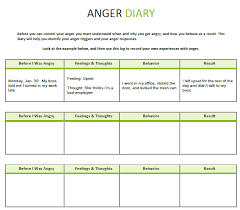 cbt psychotherapy worksheet anger diary boystown skills