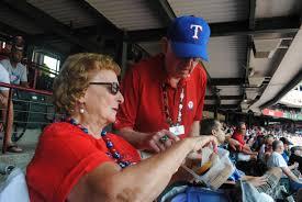 lexus box texas rangers the u0027cookie lady u0027 of rangers ballpark in arlington cbs dallas