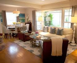 living room rectangle living room dining room combo with long