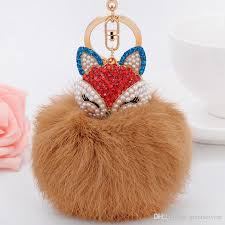 fur keychain bags ornaments car ornaments phone pandents