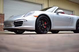 silver porsche convertible autodynamica fits black hre s101 wheels to silver porsche 911