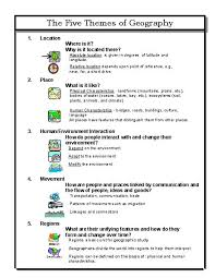 5 themes of geography essay exles hemisphere worksheets 6th grade google search ss pinterest