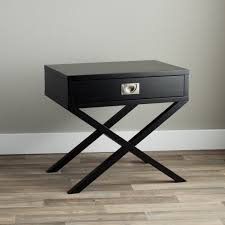 napa black 1 drawer bedside table free shipping today
