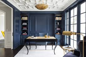 home office design blogs modern ideas for your home office navy a rich wall color can