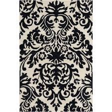 Black And Cream Rug Allie Handmade Floral Cream Black Wool Rug 5 U0027 X 7 U00276 Free