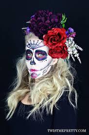sugar skull floral crown tutorial twist me pretty