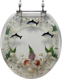 themed toilet seats decorative toilet seat tropical fish design standard