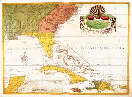 Map Of Carolinas Map Of Carolina Florida And The Bahama Islands Circa 1722