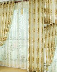 Living Room Curtains Silk Living Room Elegant Beige Opaque Glasses Privacy Nice White