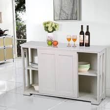 Sideboard Dining Room Yaheetech Antique White Sliding Door Buffet Sideboard Stackable