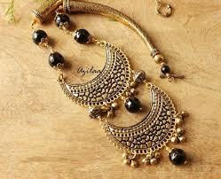 tone necklace images Statement ethnic black onyx antique gold tone necklace set online jpg