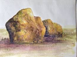 realistic rocks watercolor tutorial how to paint step by step