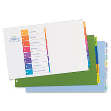 avery 11149 ready index table of contents dividers 12 x divider s
