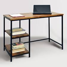 wood and metal williard desk contemporary desk simple designs