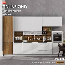 assembled kitchen cabinets oppein 360cm width pre assembled kitchen cabinet lacquer finish