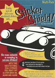 amazon com sticker shield windshield sticker applicator for