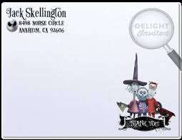 nightmare before christmas thank you cards di 346ty custom