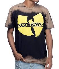 Wu Tang Socks Tang Bleach Block Black T Shirt