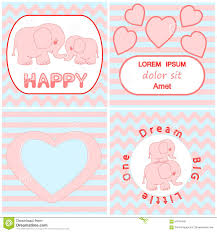 baby shower invitation card set including cartoon pink baby