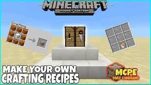 map crafting recipe custom crafting recipes redstone minecraft pe map