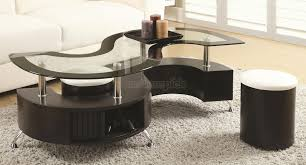 furniture round coffee table with stools underneath coffee table