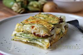 giallo zafferano cucina vegetariana parmigiana di zucchine e patate status mamma
