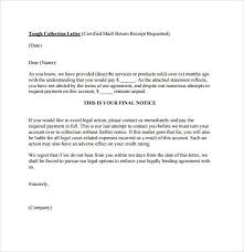 collections letter template business template