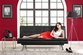 black leather futon lounger niles serta euro lounger the futon