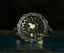 sunflower engagement ring lovely antique engagement rings at erie basin in