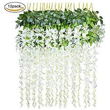 weksi artificial fake rose silk flower green leaf vine for home