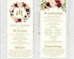 wedding program format wedding program etsy