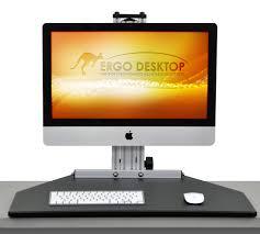 Sit Stand Desk Adapter mymac kangaroo desktop riser