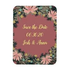 date gifts wreath wedding flowers floral save the date square magnet weddings