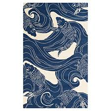 Koi Outdoor Rug Kana Global Coastal Blue Koi Outdoor Rug 5 X8