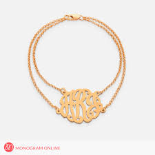 monogram bracelets sterling silver monogram bracelet w rollo chain monogram online