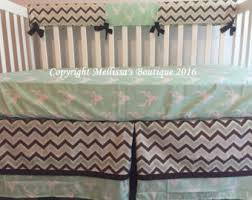 green and brown crib bedding etsy