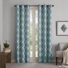 park essentials almaden printed fret window curtain set