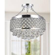crystal semi flush mount lighting semi flush mounts flush mount lighting for less overstock com