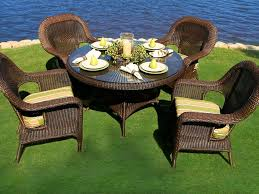 outdoor wicker dining table tortuga outdoor lexington wicker 5 piece dining set wicker com