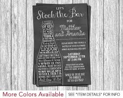 stock the bar invitations stock the bar invitation engagement party invitations
