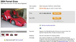 enzo for sale australia is the sultan of brunei s enzo for sale in